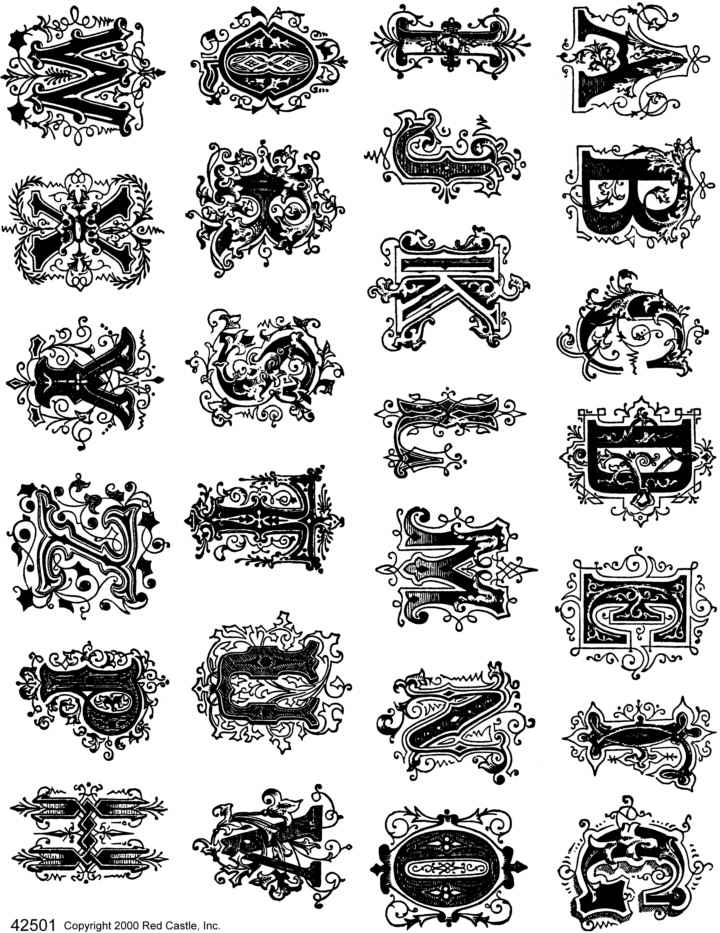 sheets of unmounted rubber stamps from red castle  inc